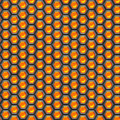Orange cells. Metal background. — Stock Photo