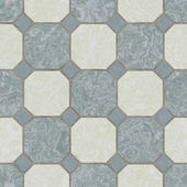 Seamless ceramic tile kitchen floor — 图库照片