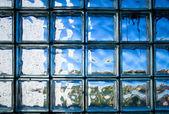 Betegelde glazen wand — Stockfoto