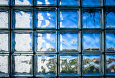Tiled glass wall — Stock fotografie
