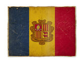 Grunge flag of Andorra — Stock Photo