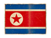 Grunge flag of North Korea — Stock Photo