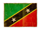 Grunge flag of Saint kitts and nevis — Photo