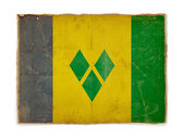Grunge flag of Saint vincent and the gre — Stok fotoğraf