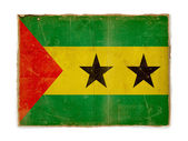 Grunge flag of Sao tome and principe — Stok fotoğraf