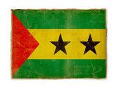 Grunge flag of Sao tome and principe — Stock Photo