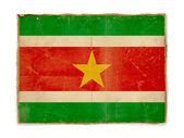 Grunge flag of Suriname — Stock Photo