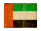 Grunge flag of United Arab Emirates — Photo