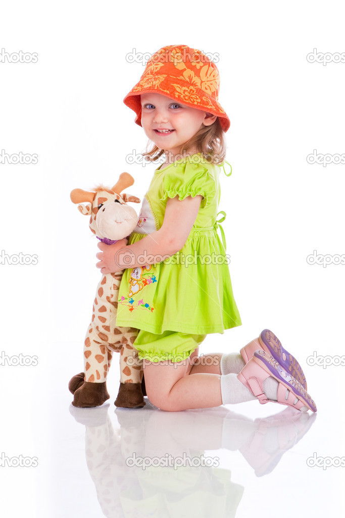 little girl with toy — Stock Photo #1182191