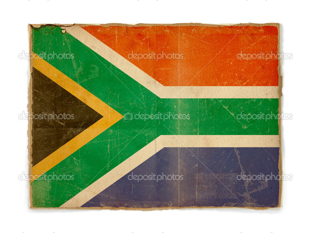 Dirty weathered flag of South africa, paper textured — ストック写真 #1183118