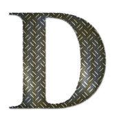 Metal alphabet symbol - D — Stock Photo
