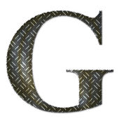 Metal alphabet symbol - G — Stock Photo