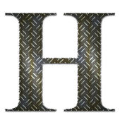 Metal alphabet symbol - H — Stock Photo