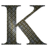 Metal alphabet symbol - K — Stock Photo