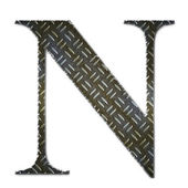 Metal alphabet symbol - N — Stock Photo