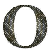 Metal alfabet symbool - o — Stockfoto