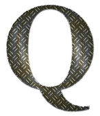 Metal alphabet symbol - Q — Stock Photo