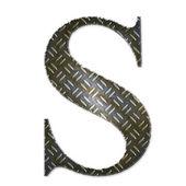 Metalen alfabet symbool - s — Stockfoto