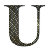 Metal alphabet symbol - U — Stock Photo