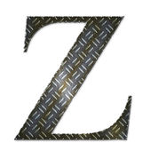 Metal alphabet symbol - Z — Stock Photo