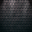 Seamless diamond steel background - Foto Stock
