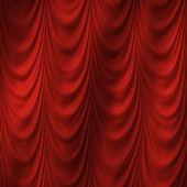 Röd gardin — Stockfoto