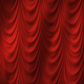 Red curtain — Stock fotografie