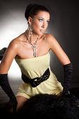 Luksusowa dziewczyna. studio fotografii. — Zdjęcie stockowe
