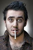 Man with a cigarette — Stock Photo