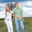 Teens in field — Stock Photo #1210157