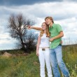 Teens in the field — Stock Photo