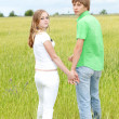 The young romantic couple — Stockfoto