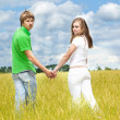 Teens in field — Stock Photo #1210255
