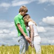 The young romantic couple — Stock Photo