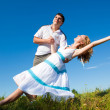 Royalty-Free Stock Photo: Cople dance outdoors