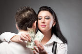 Love Over Money — Stock Photo