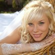 Green-eyed bride - Stock Photo