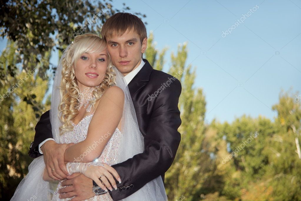 Day of wedding for in love the happiest day in a life  Stock Photo #1196383