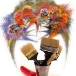 pennelli per pittura — Foto Stock