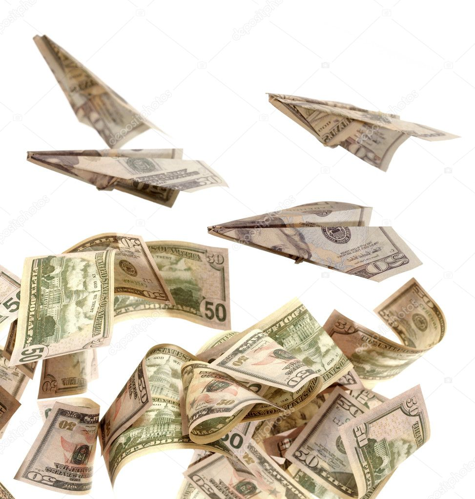 American dollars on a white background — Stock Photo #1579000