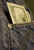 Bir cebinde para — Stok fotoğraf