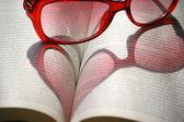 Heart on book — Stock Photo