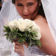 Bride with wedding bouquet — Stock Photo