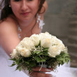 Bride with wedding bouquet — Stock Photo #1367372