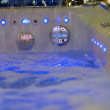 Stock Photo: Massage bath blue waterfall close-up