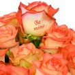 "Roses bouquet ""Be Mine..."" — Stock Photo"