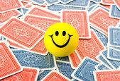 Smile in cards — Stock Photo