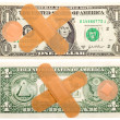 One dollar with band-aid — Stock Photo #1209225