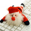 Santa claus in keyboard — Stock Photo #1209338
