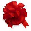 Red satin bow — Stock Photo